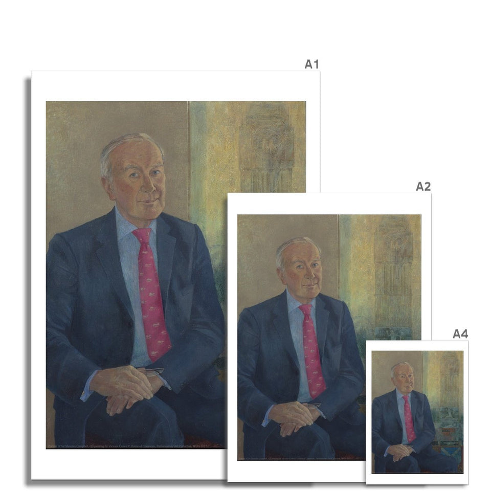 Portrait of Sir Menzies Campbell Fine Art Print featured image