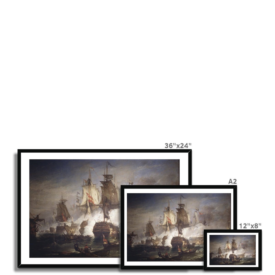 Battle off Cape Vincent Framed Print featured image