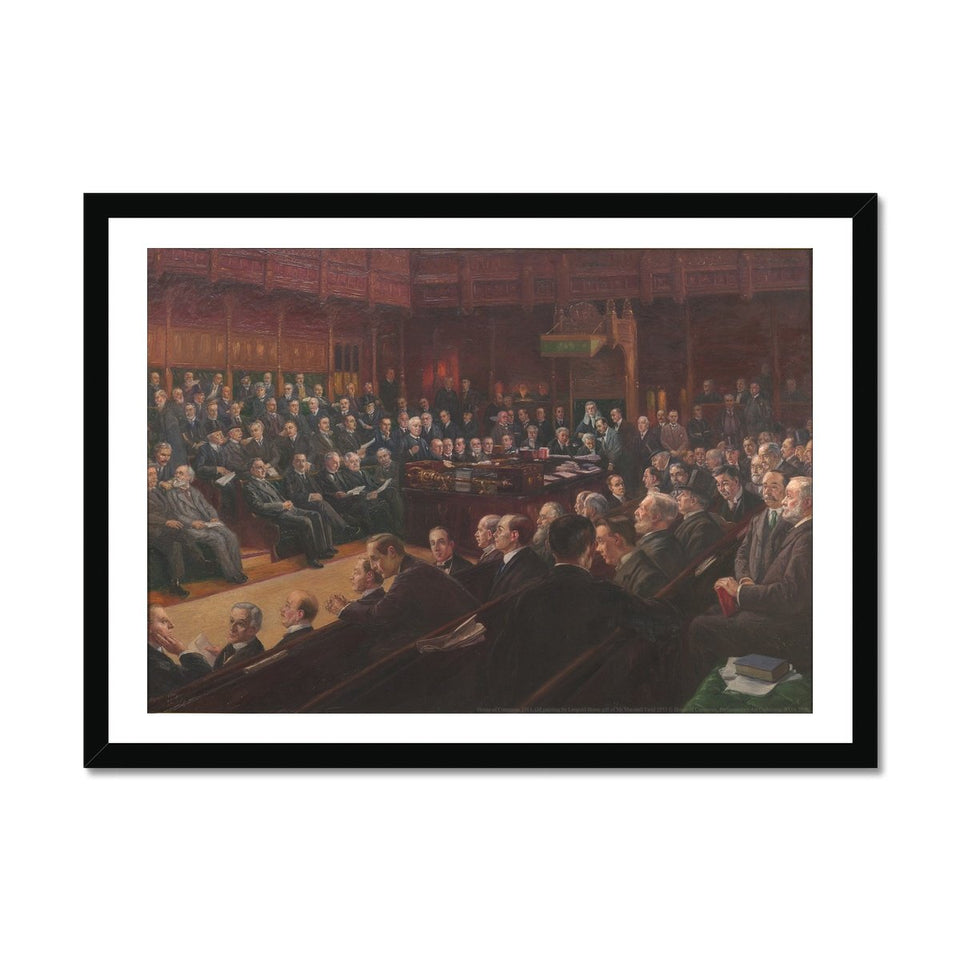 House of Commons 1914 Framed Print featured image
