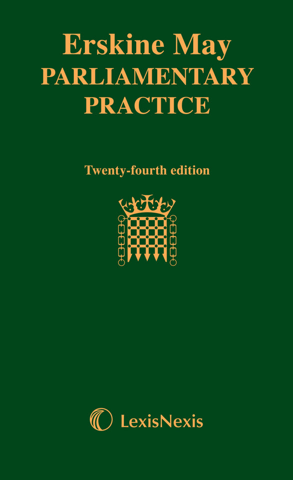 Erskine May Parliamentary Practice - 24th Edition featured image