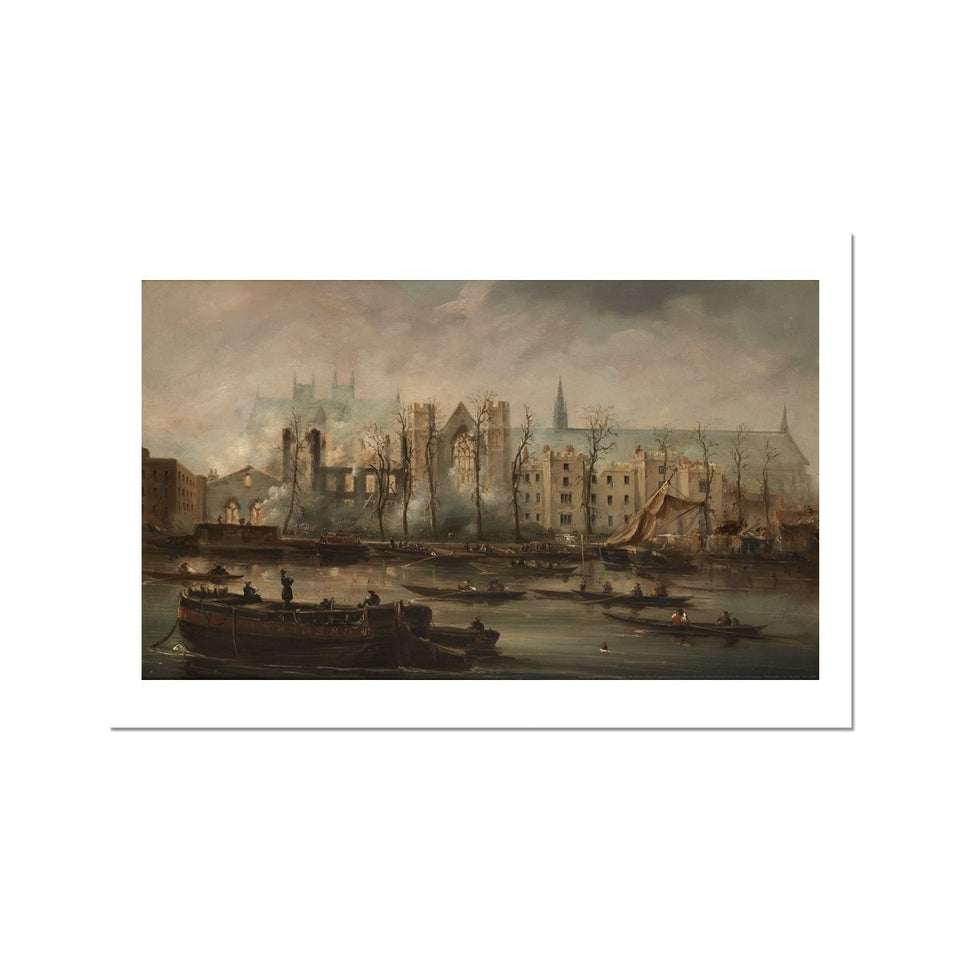 Burning of the Houses of Parliament Fine Art Print featured image