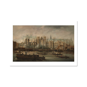 Burning of the Houses of Parliament Fine Art Print