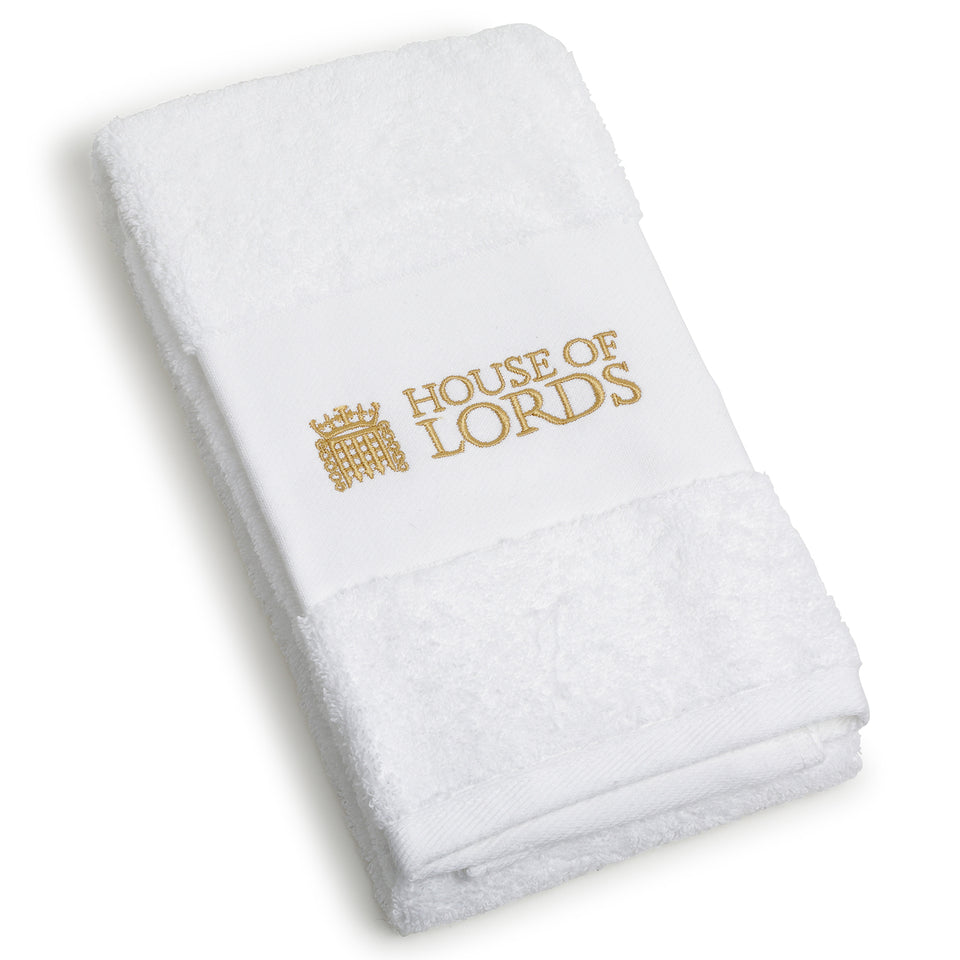 House of Lords Embroidered White Towel featured image