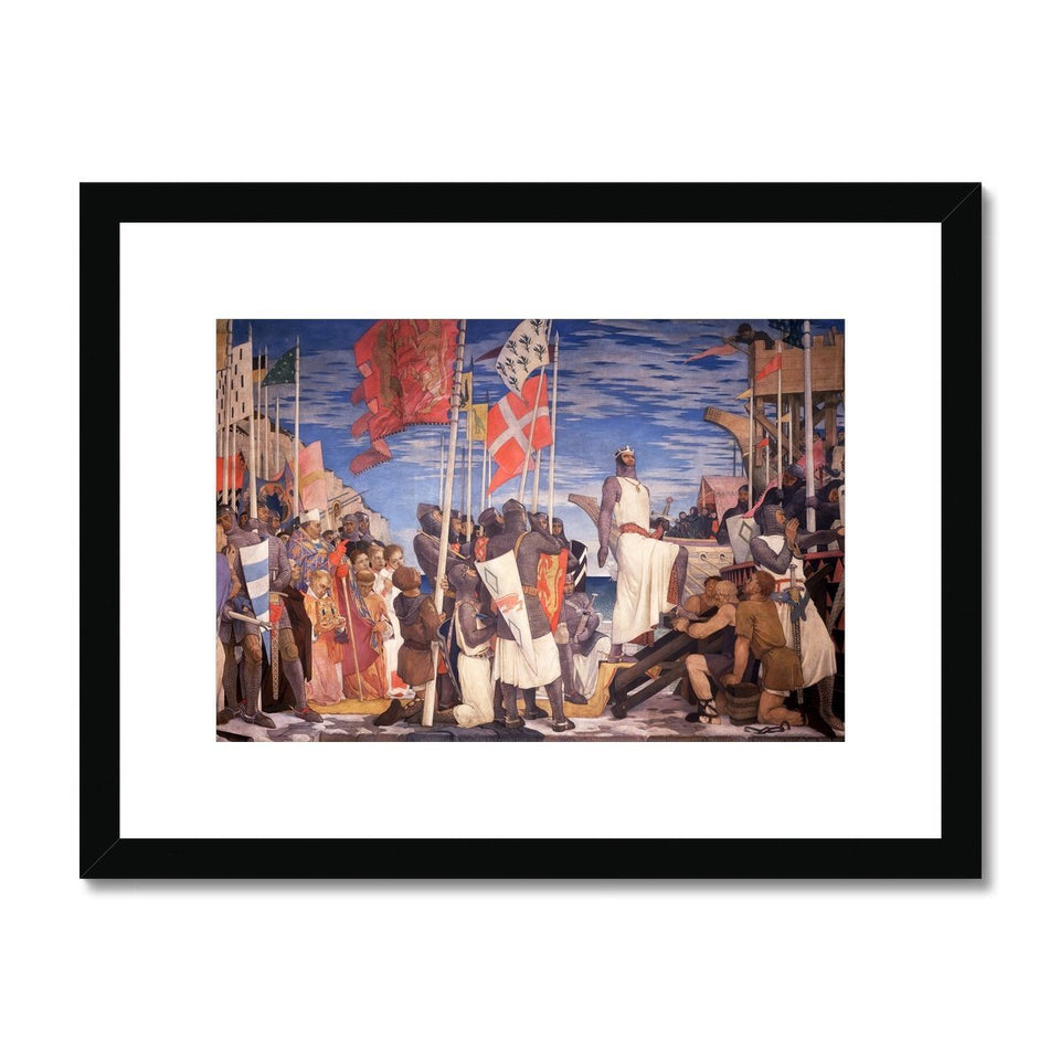 Richard I Leaving England for the Crusades Framed & Mounted Print featured image