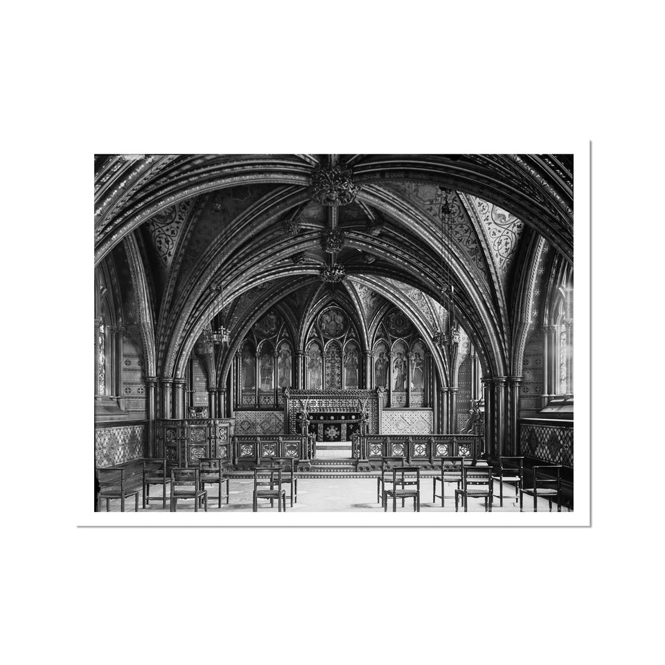 Crypt Chapel (Chapel of St Mary Undercroft), c.1905 Fine Art Print featured image