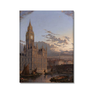 The Building of Westminster Bridge Canvas