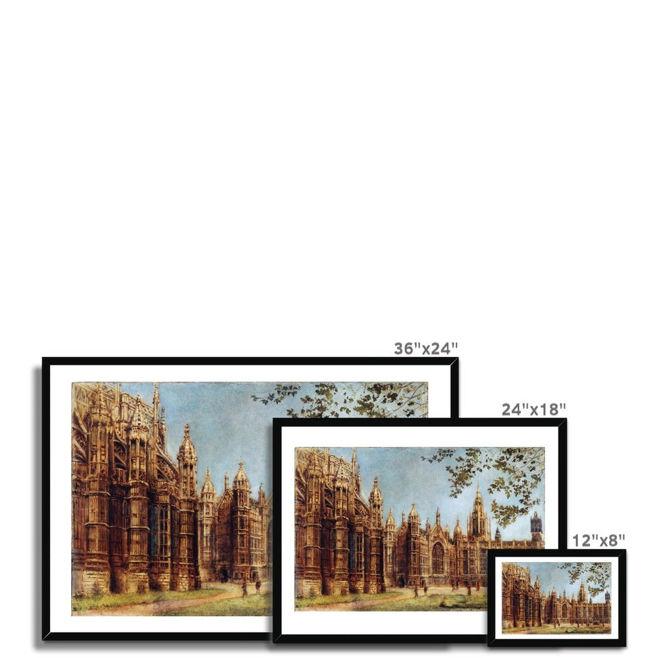 View of Henry VII Chapel and Old Palace Yard Framed Print featured image