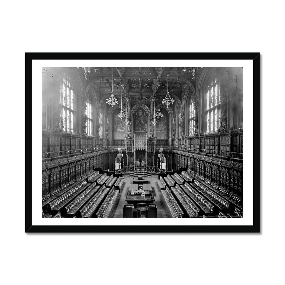 The House of Lords Chamber c.1905 Framed Print featured image