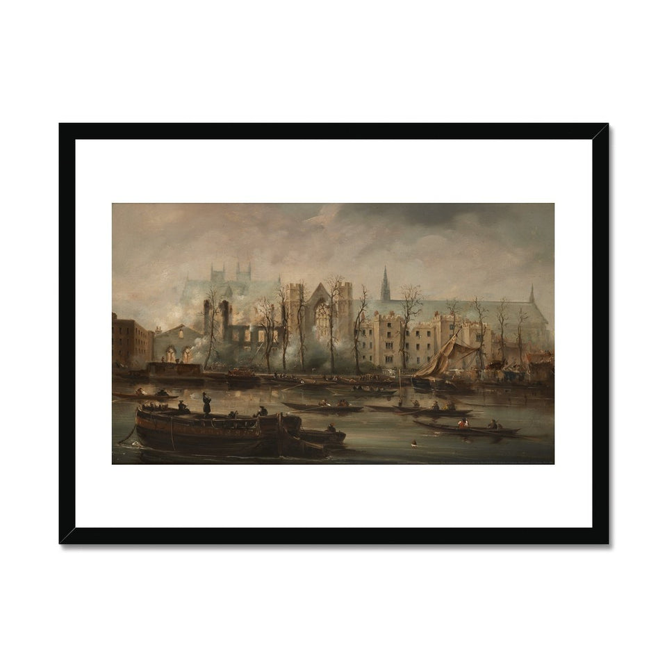 Burning of the Houses of Parliament Framed Print featured image
