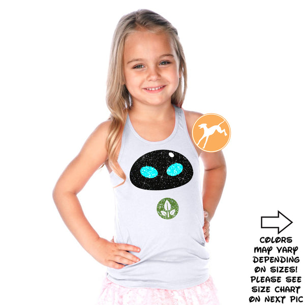 Disney Wall-e Eve Kids glitter Tank