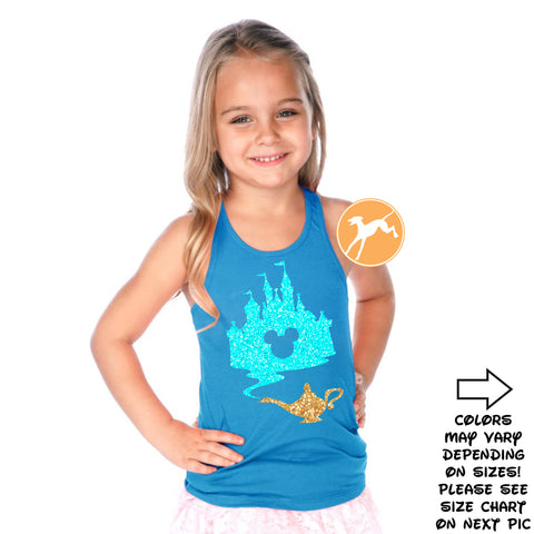Disney Personalized Minnie Sapphire kids tank