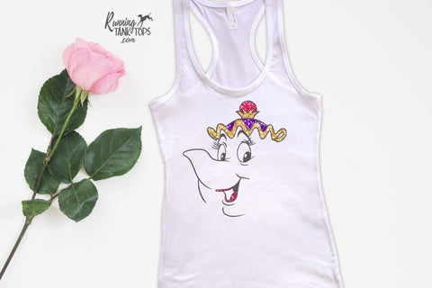 Disney Mrs. Potts Beauty and the Beast tank