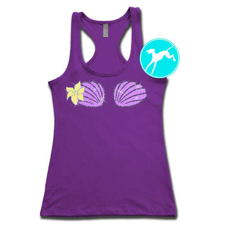 Ariel Little Mermaid Shells Purple Tank