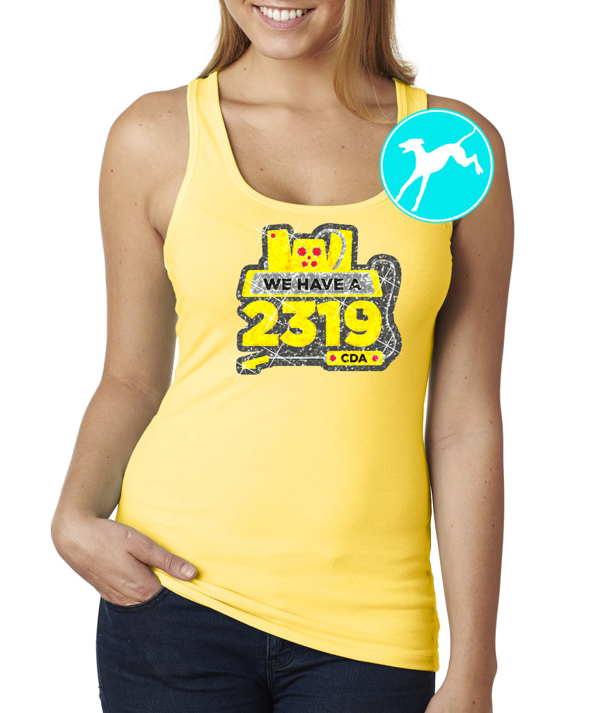 Disney Monsters ink 2319 yelow tank
