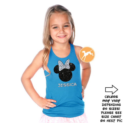 Disney Personalized Minnie Purple kids tank