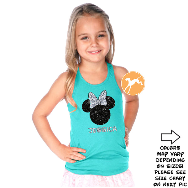 Disney Personalized Minnie Tahiti kids tank