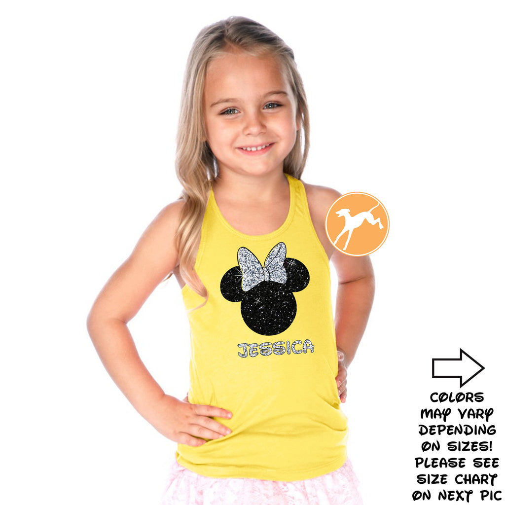Disney Personalized Minnie yellow kids tank