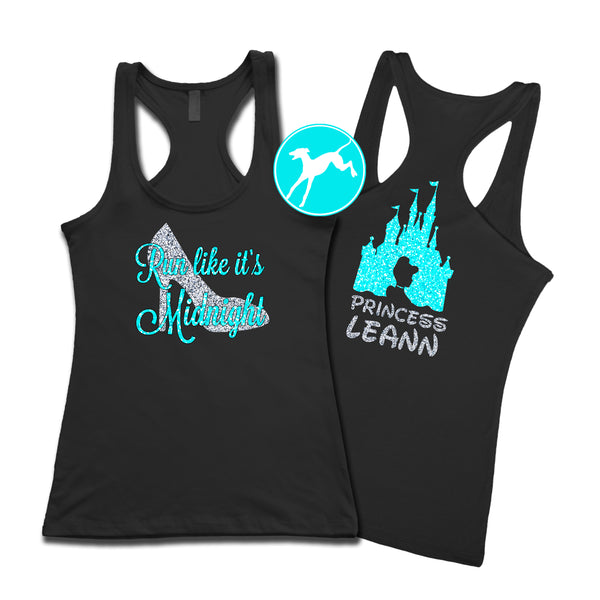 Disney Run Like Midnight Personalized New tank