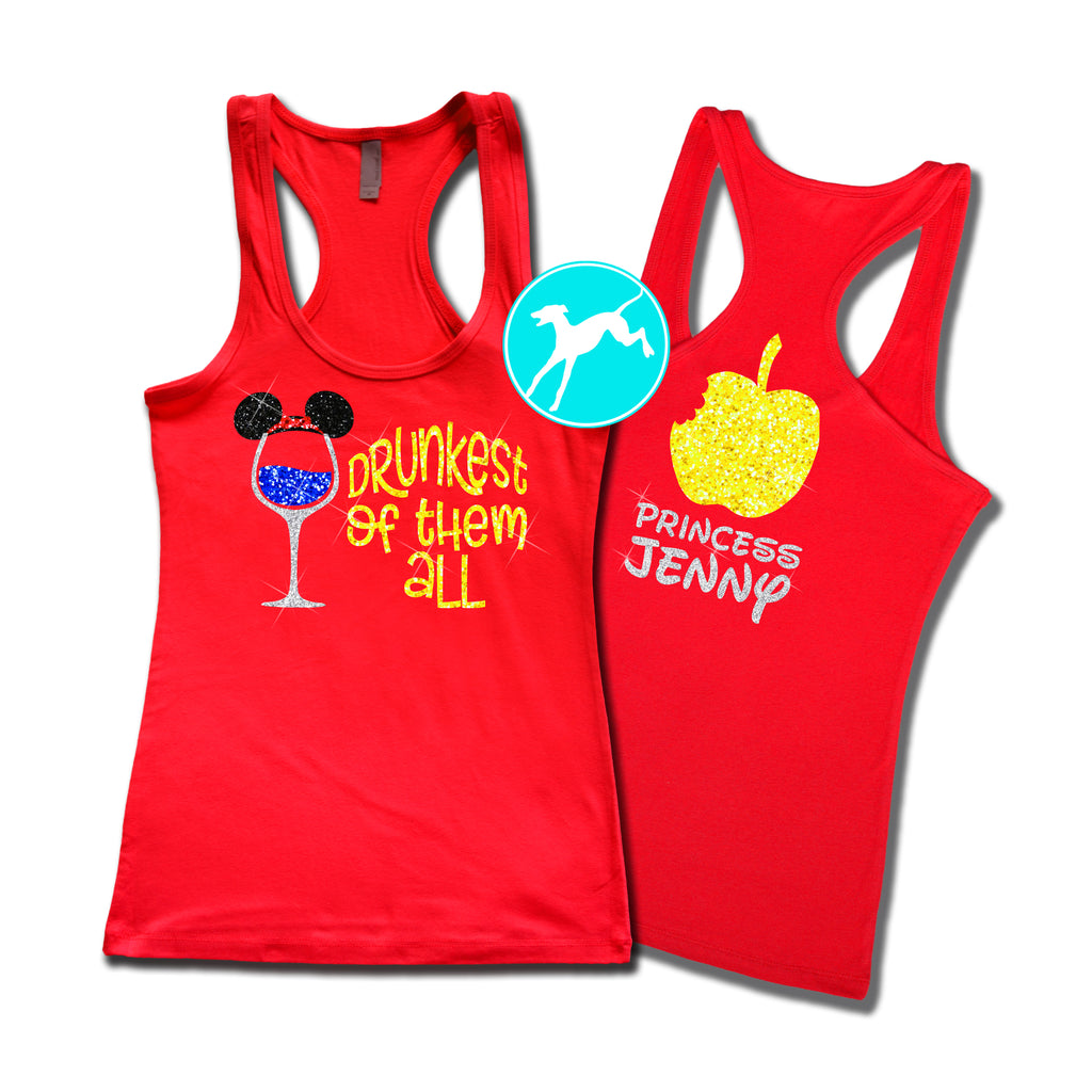 20c4cf54b Disney Wine Snow White Name tank – Running Tank Tops .com