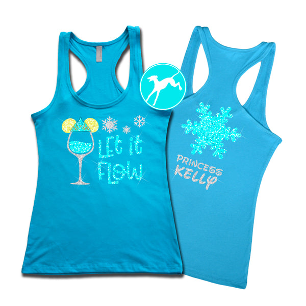 Disney Wine Elsa name tank