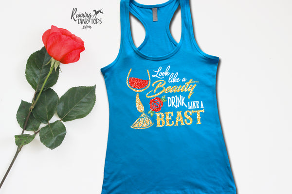 Disney Run Now wine later lumiere tank
