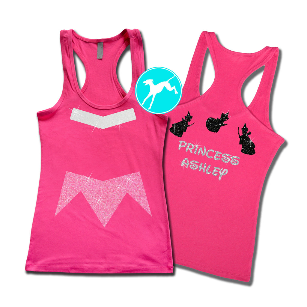 Disney Sleeping Beauty Personalized Costume Pink  tank