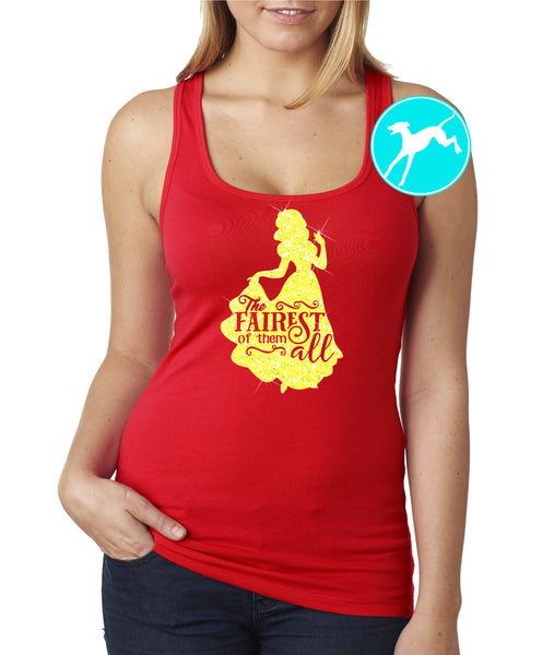 Disney Snow white fairest of them all red tank