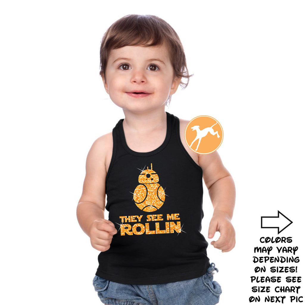 Disney Star Wars BB8 Rollin Kids black tank