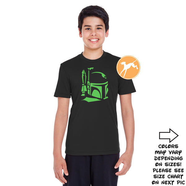 Disney Star Wars Boba Fett black youth shirt