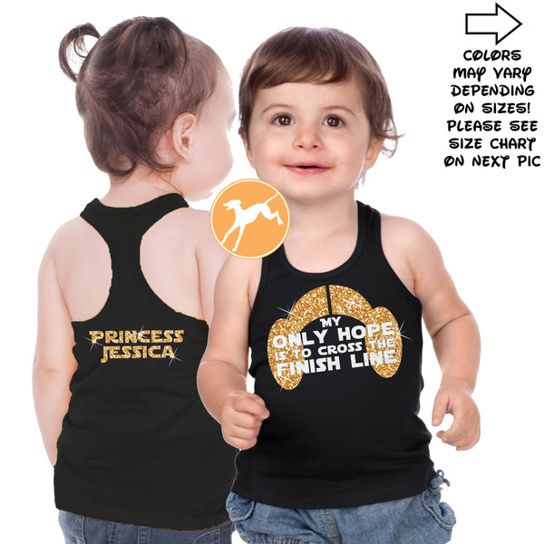 Disney Star Wars Only hope kids personalized tank