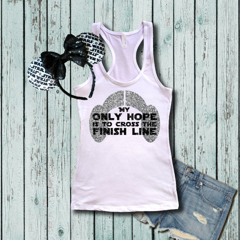 Disney Star Wars Only hope white tank
