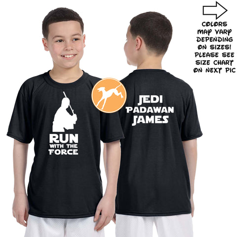 Disney Star Wars Run Force Jedi Personalized shirt