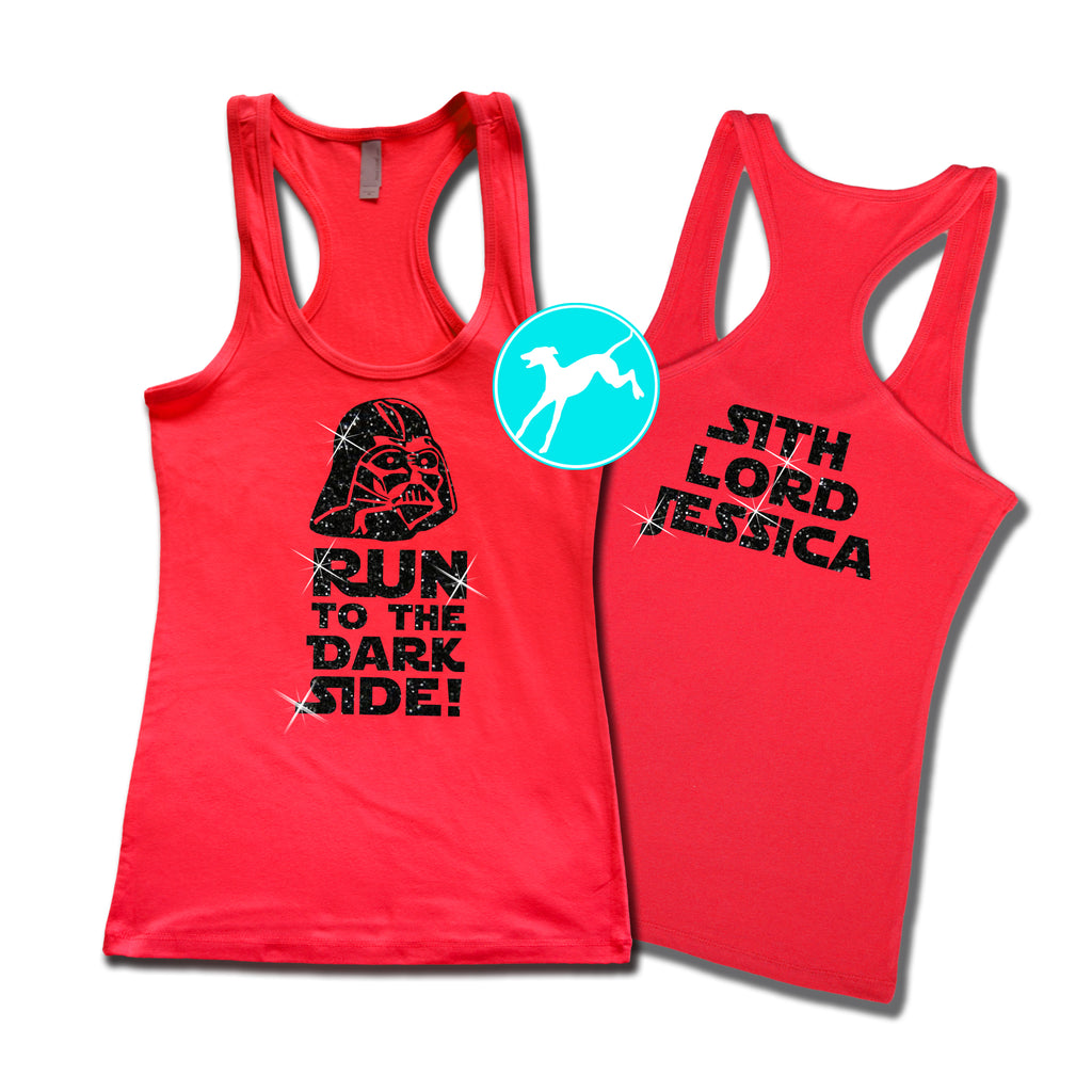Disney Star Wars Vader personalized Red tank