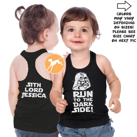 Disney Star Wars Vader personalized kids tank