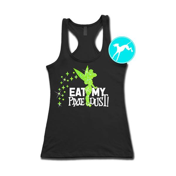 Disney Tinkerbell Eat pixie dust green glitter Tank