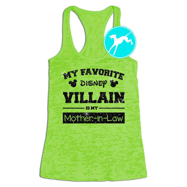 Disney Villain is my  Mother in law green shirt