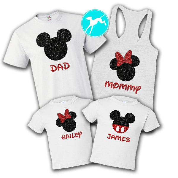 Mickey Head Family Set