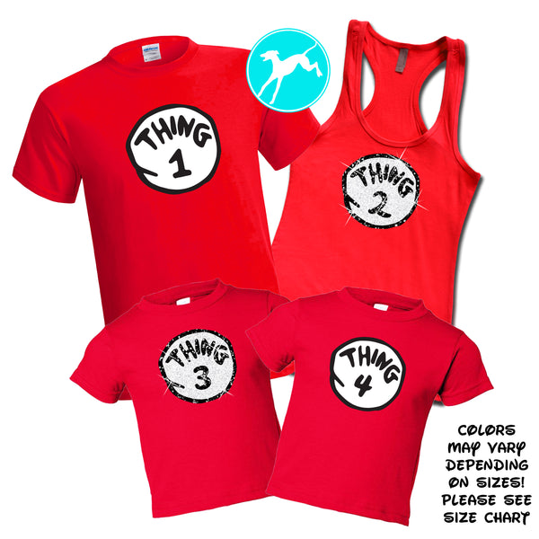 Thing one Red Family Set