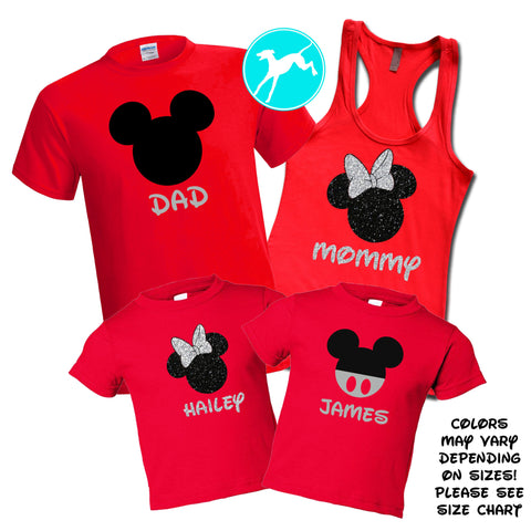Mickey Head Red Family Set