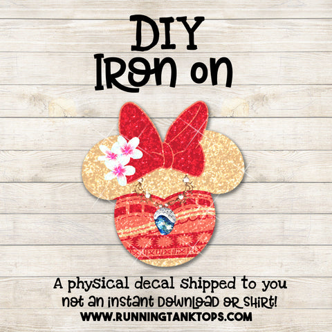 Moana Minnie head decal