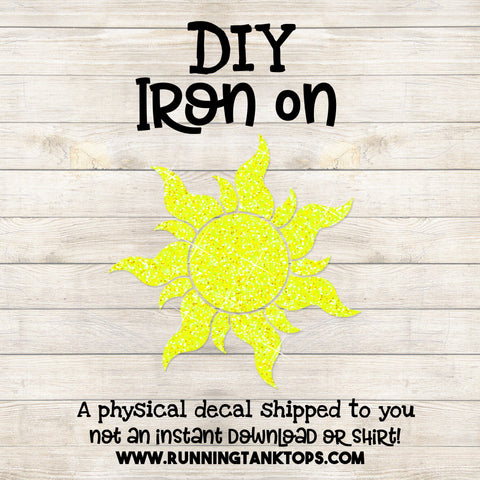 Disney Tangled Sun Iron On Decal