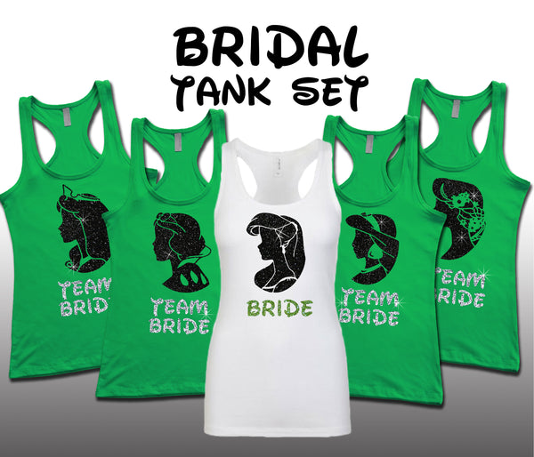 Princess Bridal Set Kelly Green