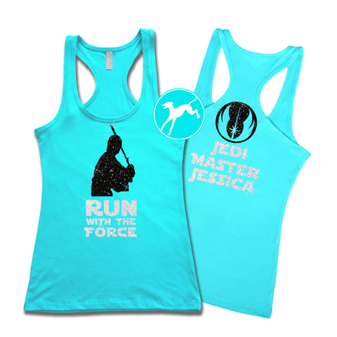 Disney Luke Run force Aqua Personalized Tank