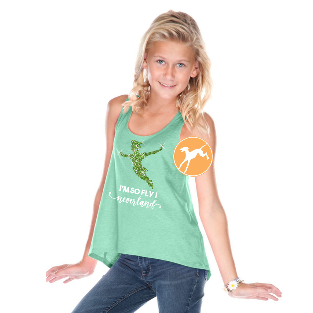Peter Pan so fly i neverland mint tank