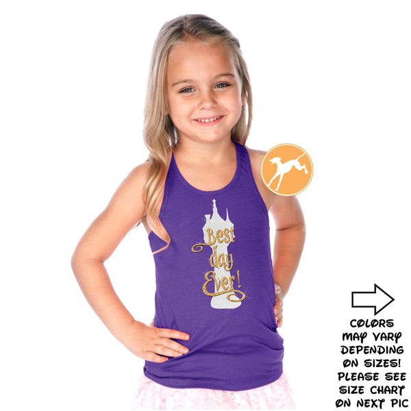 Tangled Best Day Ever kids tank