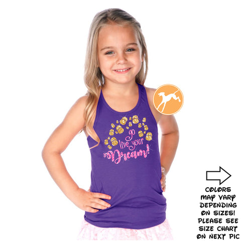 Tangled Go Live your Dream Lanterns kids tank