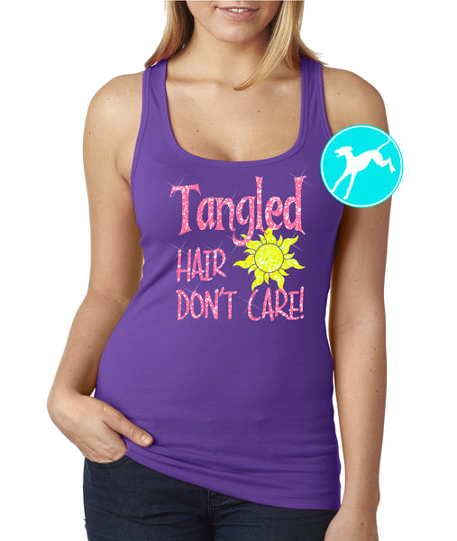Tangled hair don't care tank