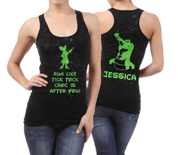Tinkerbell Tic Tock Croc personalised tank