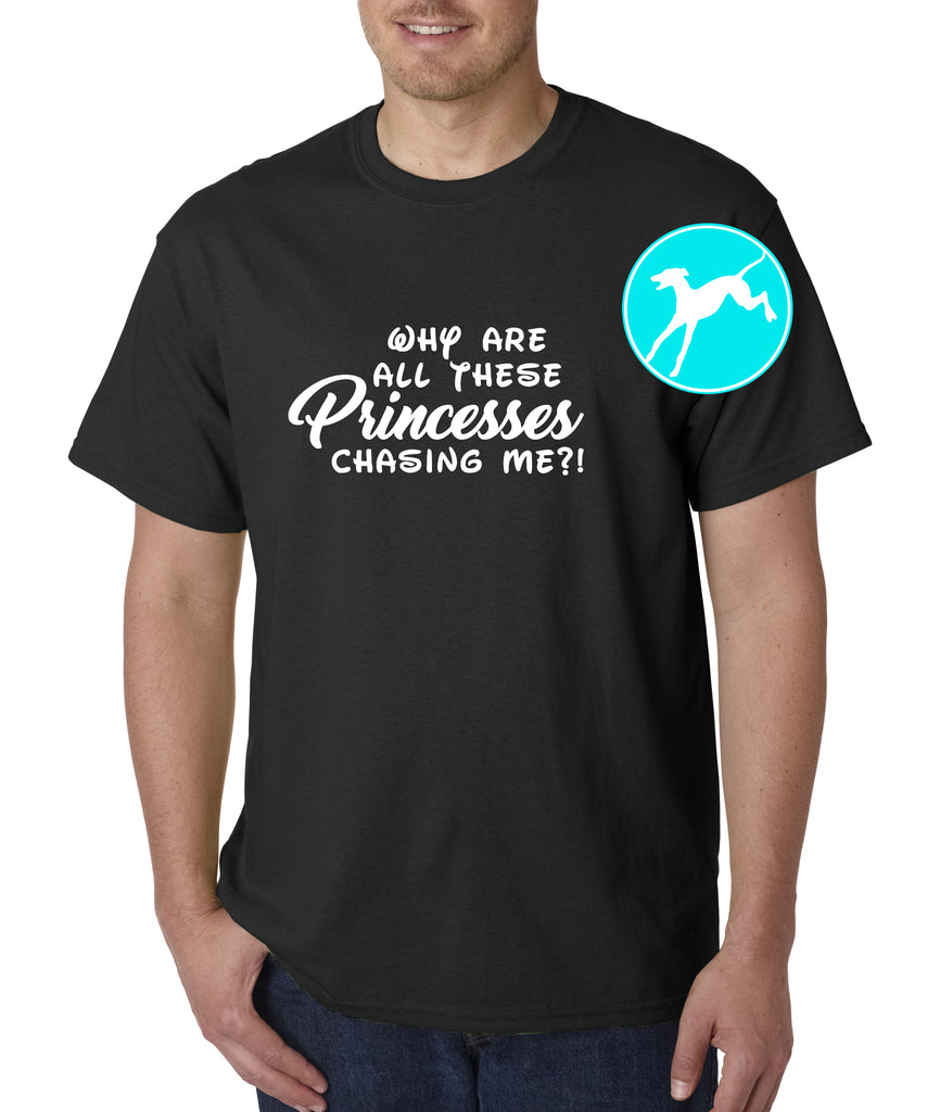 Princesses chasing me Black Shirt