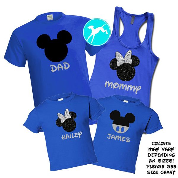 Mickey Head Royal Blue Family Set
